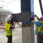 refuerzo estructural pilares fibra carbono resina regeneracion